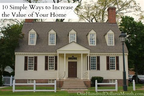 10 simple ways to increase the value of your home one