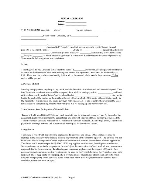 Agreement Letter For House Rental Best Photos Of House Rental Agreement Form House Rental