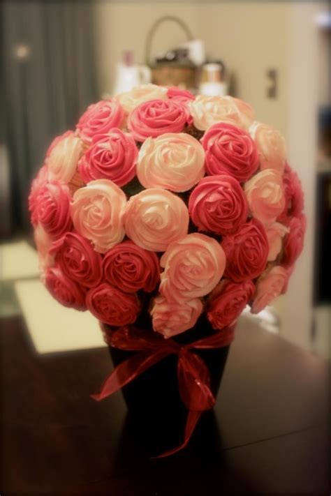 cupcake arrangements for bridal shower cupcake bouquet cakecentral