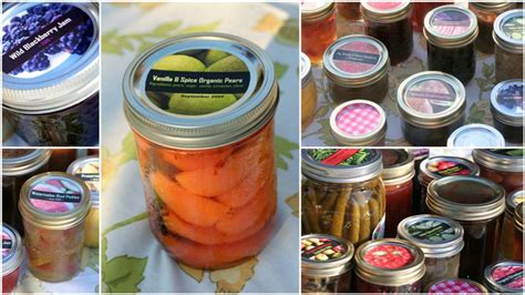 Pickle Canning Labels canning labels for jam pickles and more garden