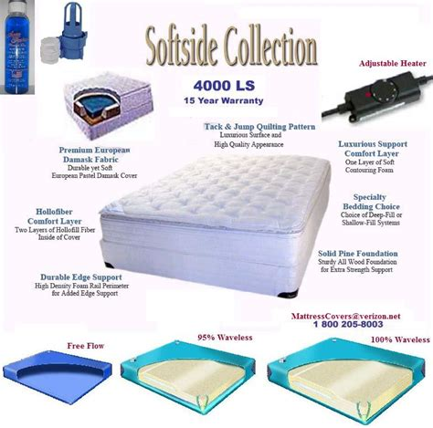 are waterbeds comfortable king softside waterbed with organic cotton pillow top