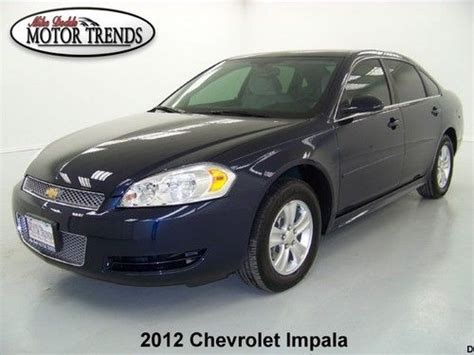 2012 chevy impala bluetooth purchase used only 2k 2012 chevy impala ls alloys