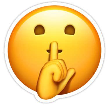 """shhh emoji"" stickers by stertube | redbubble"
