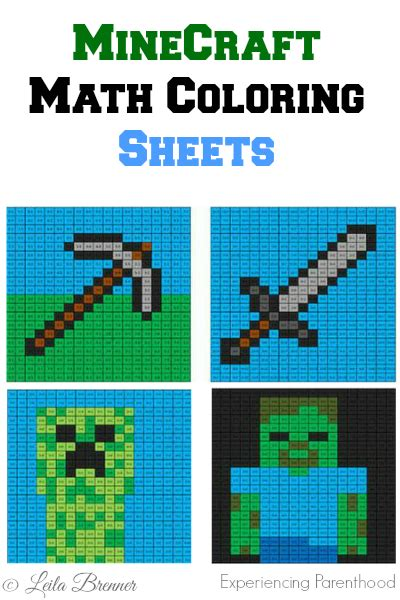 minecraft math coloring page math minecraft coloring sheets math homeschool and school