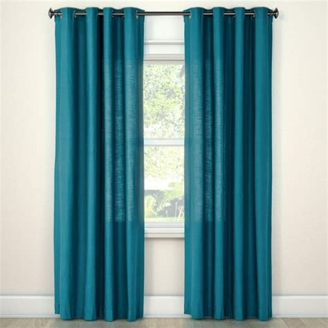 turquoise curtains target natural solid curtain panel turquoise 54 quot x84