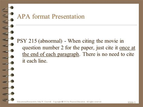 How To Cite Movie In Essay Apa Apa Format Citing A Movie Apa Format For Powerpoint Presentations