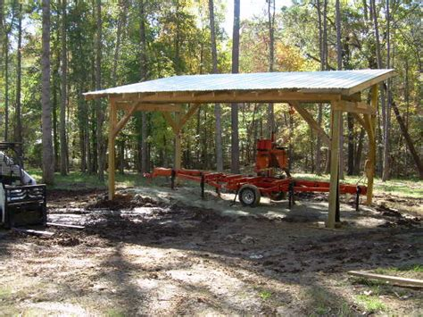 Timber Frame Sawmill Shed