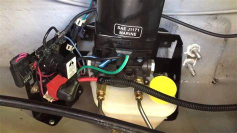boat trim switch not working mercruiser trim pump noise youtube