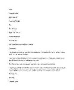 Resignation Letter For Getting New by Basic Resignation Letter Sle 6 Documents In Pdf Word