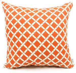 outdoor burnt orange bamboo pillow contemporary