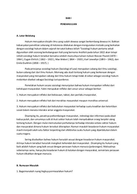 pembuatan kata pengantar dalam makalah makalah tugas sosiologi hukum