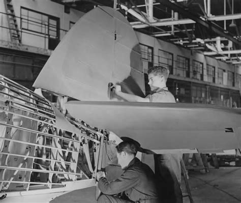 production section hurricane assembly and production tail section world war