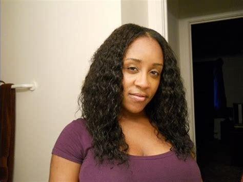 sew in with wet and wavy hair wet n wavy sew in wig tutorial youtube