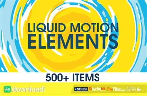 free motion templates for after effects liquid motion elements videohive template free