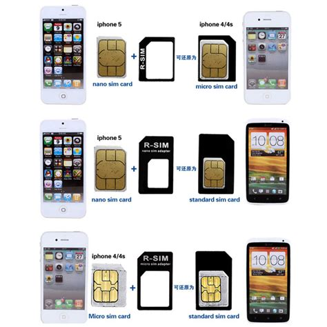 Iphone 4 Sim Card by 10 Set Nano Sim Card To Micro Standard Card Converter Adapter For Iphone 4 5 6 Ebay