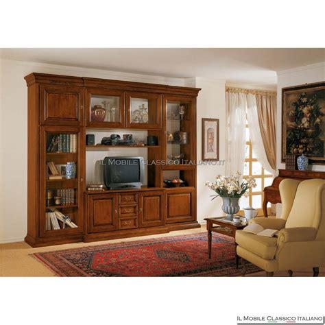 mobili libreria classica porta tv e libreria classica in legno massello prezzo basso