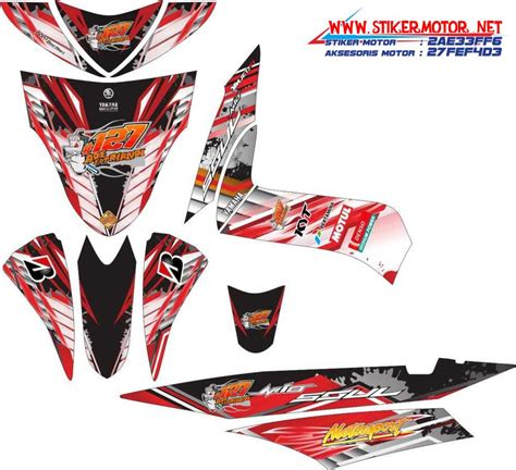 Sticker Striping Motor Honda Spacy 2010 striping motor yamaha mio soul racing merah stikermotor