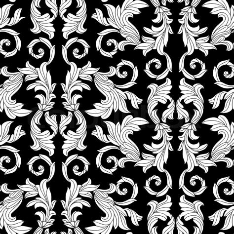 vintage pattern black and white vector vintage antique floral background beautiful flowers