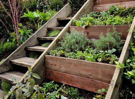wall vegetable garden gardens ideas retaining walls raised beds outdoor herbs gardens planters terraces gardens