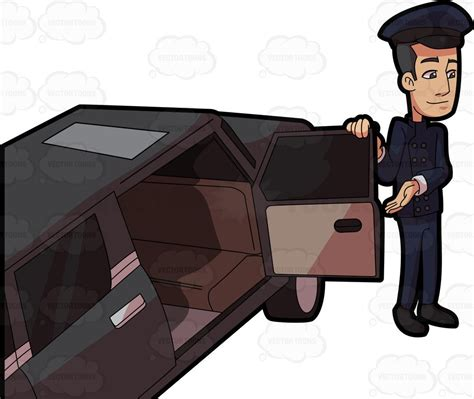 Limo Chauffeur by A Chauffeur Opening The Passenger Door For His Client