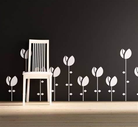 tulip wall stickers abstractornament wall sticker image photos pictures