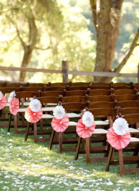 Outdoor Ceremony Decorations by Pretty Aisle Decorations Backyard Wedding