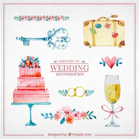 free download mp3 darso caka bodas watercolor cute wedding elements vector premium download
