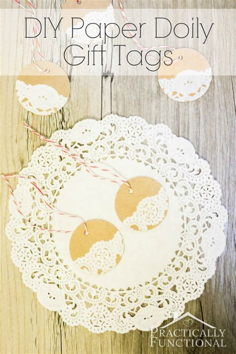 How To Make A Paper Doily - diy paper doily gift tags