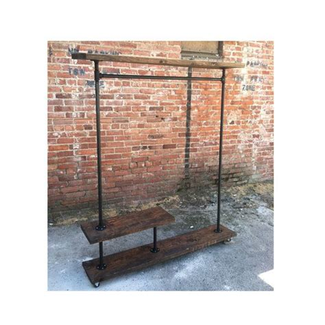Shelf And Clothes Rack by Irh Half Shelf Industrial Clothes Rack Furniture