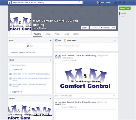 comfort control what makes a great hvac facebook page great hvac