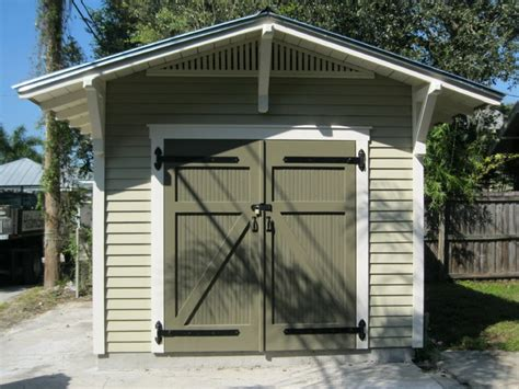 10 X15 Storage Shed For A Bungalow Craftsman Garage Storage Shed With Garage Door