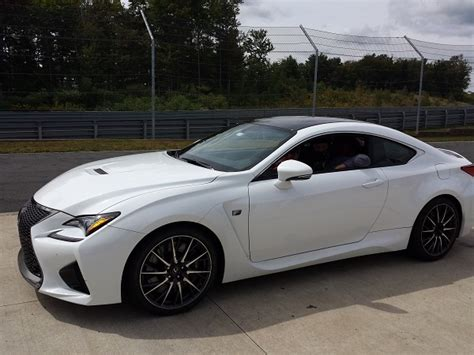 lexus rcf white comparing the 2015 lexus rc f rc 350 and is 350 on track