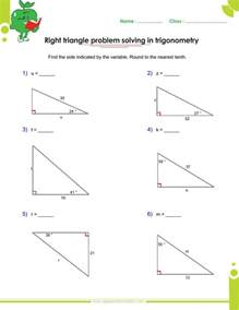 right triangle trigonometry word problems worksheet