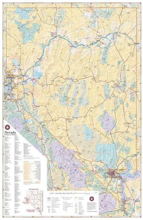 nevada road map atlas nevada road map benchmark maps