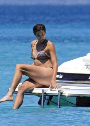 garbine muguruza in bikini on a boat in formentera