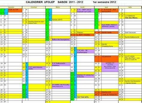 Calendrier 2012 Excel Planning 2011 2012 Randonn 233 E Vtt Xc Ufolep Et Vie Du Club