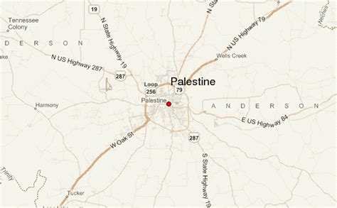 map of palestine texas palestine texas location guide