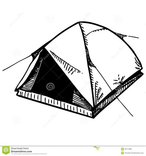Black And White Awning Camping Tent Royalty Free Stock Photo Image 32177895