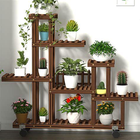 multi tier wooden plant flower stand plants shelf