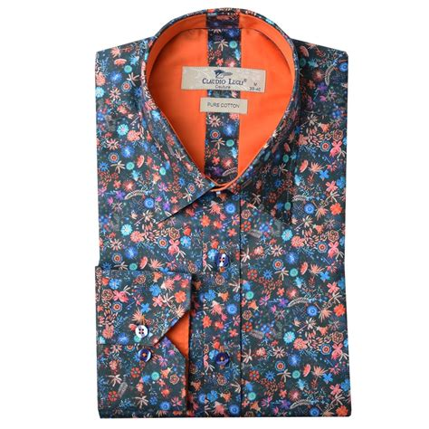Print Shirt claudio lugli shirts summer floral print shirt the