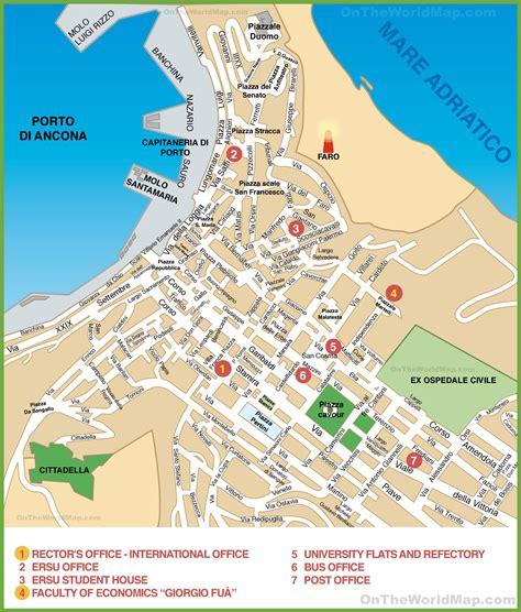 map of ancona italy map of ancona city centre