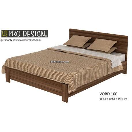 Ranjang Pro Design by Harga Ranjang Kayu Vobd 160 Volta Prodesign