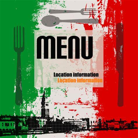 retro italian menu design vector set  vector