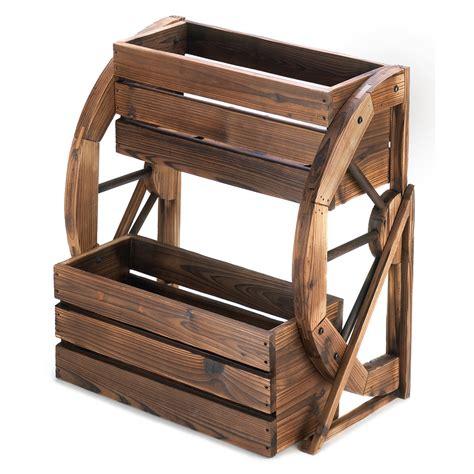 Wholesale Wagon Wheel Double Tier Planter Buy Wholesale Wagon Wheel Planter