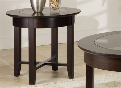 demilune accent table demilune round end table w glass top handstone