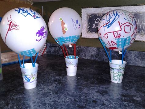 balloon craft for air balloon craft using a balloon straws paper cup