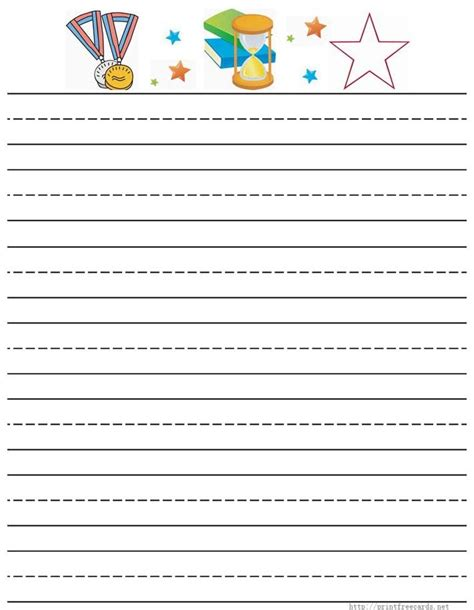 template elementary lined flashed cards kindergarten writing paper printable free free lined
