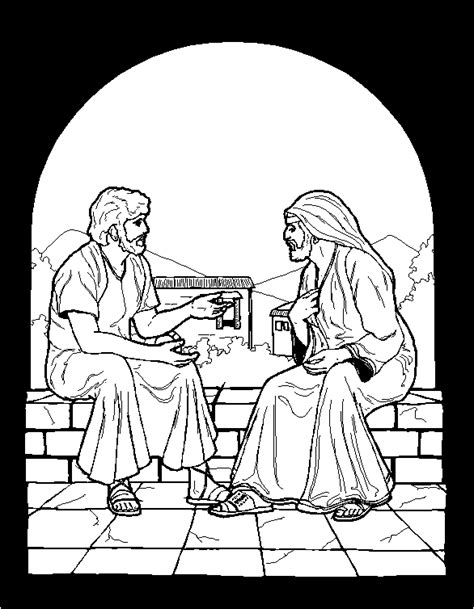 nicodemus coloring pages