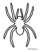 spider outline coloring page spider coloring pages