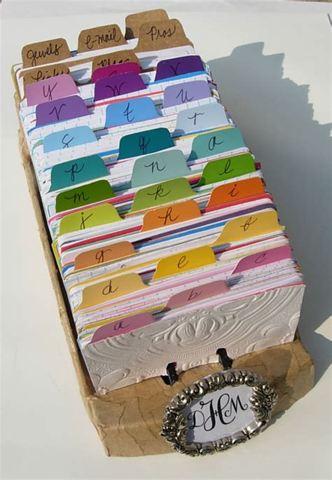 rolodex in artful order paint chip crafts inmyownstyle
